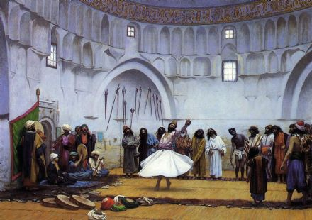 Gerome, Jean Leon: Whirling Dervishes. Fine Art Print/Poster. Sizes: A4/A3/A2/A1 (002853)